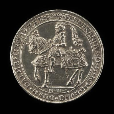 Image for Ferdinand I, 1503-1564, Archduke of Austria 1519, Emperor 1556 [obverse]; Eagle Displayed, Charged with Shield [reverse]