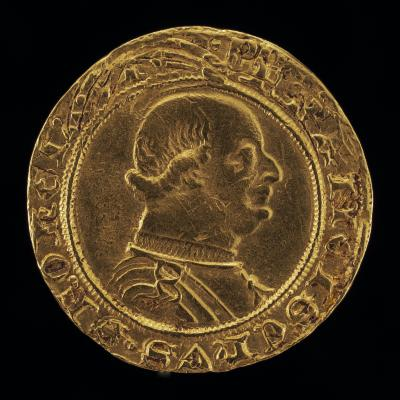 Image for Francesco I Sforza, 1401-1466, 4th Duke of Milan 1450 [obverse]; Duke in Armor on Horseback, Wielding Sword [reverse]