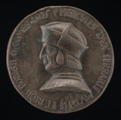 Image for Ercole I d'Este, 1431-1505, Duke of Ferrara, Modena, and Reggio 1471 [obverse]; Putti Receiving Shower of Este Diamond Rings [reverse]