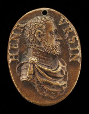 Image for Enrico Orsini, died 1604 [obverse]; Bees Around a Hive [reverse]