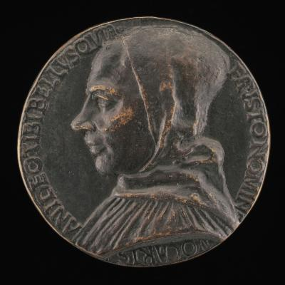 Image for Fra Alberto Belli, died 1482 [obverse]; Faith Holding a Chalice with a Wafer and a Cross [reverse]