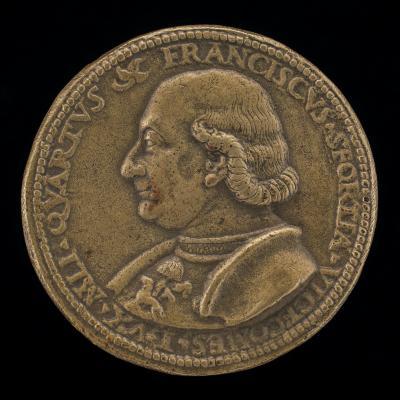 Image for Francesco I Sforza, 1401-1466, 4th Duke of Milan 1450 [obverse]; Francesco Approaching a City [reverse]