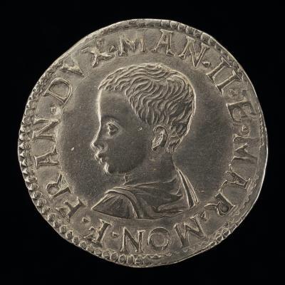 Image for Francesco III Gonzaga, 1533-1550, 2nd Duke of Mantua [obverse]; Tobias Guided by the Angel [reverse]