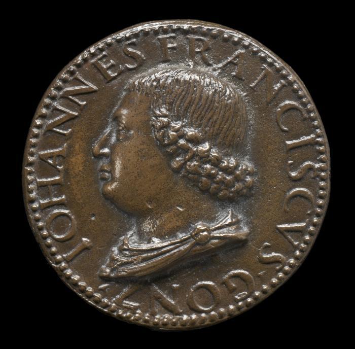 Image for Gianfrancesco Gonzaga di Rodigo, 1445-1496, Lord of Bozzolo, Sabbioneta, and Viadana 1478 [obverse]; Fortune, Mars and Minerva [reverse]