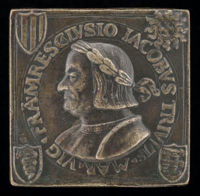 Image for Gian Giacomo Trivulzio, 1441-1518, Marshal of France 1499 [obverse]; Inscription [reverse]