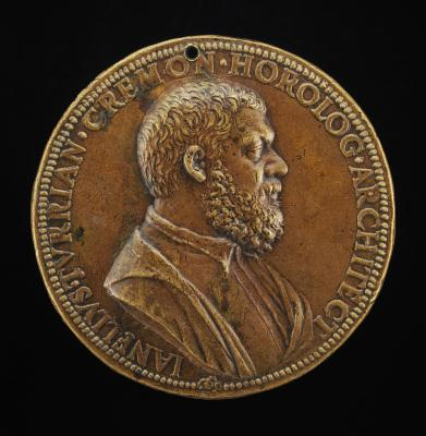 Image for Giannello della Torre of Cremona, 1500-1585, Engineer in the Service of Charles V (obverse); Fountain of the Sciences [reverse]