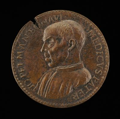 Image for Giampietro Mantova Benavides, died 1520, Paduan Physician [obverse]; Temple with Goddess [reverse]
