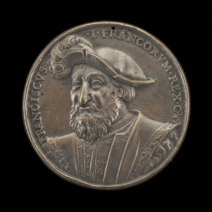 Image for François I, 1494-1547, King of France 1515 [obverse]; Salamander in Flames [reverse]