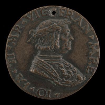 Image for Gian Giacomo Trivulzio as a Laureate Warrior [obverse]; Giangiacomo Trivulzio, 1441-1518, Marshal of France 1499 [reverse]