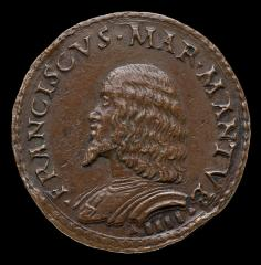Image for Francesco II Gonzaga, 1466-1519, 4th Marquess of Mantua 1484 [obverse]; The Marquess Giving Alms [reverse]