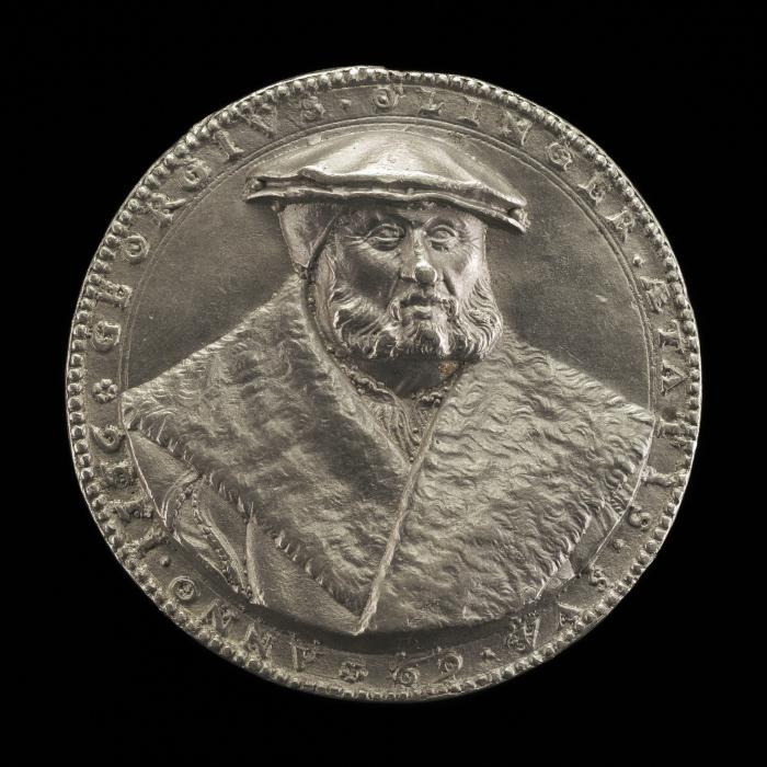 Image for Georg Olinger, 1487-1557, Apothecary [obverse]; Inscription [reverse]