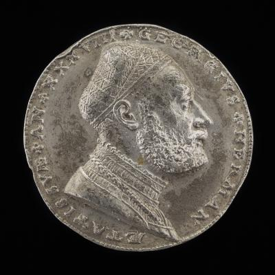 Image for Georg Hermann, 1491-1552, German Philospher [obverse]; Shields and Helm [reverse]