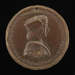 Image for François, Duke of Valois, 1494-1547, afterwards François I, King of France 1515 [obverse]; Salamander in Flames [reverse]
