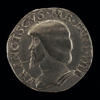 Image for Francesco II Gonzaga, 1466-1519, 4th Marquess of Mantua 1484 [obverse]; Pyxis of the Blood of Christ [reverse]