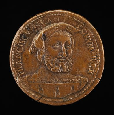 Image for François I, 1494-1547, King of France 1515 [obverse]; Unicorn Before a High Rock [reverse]