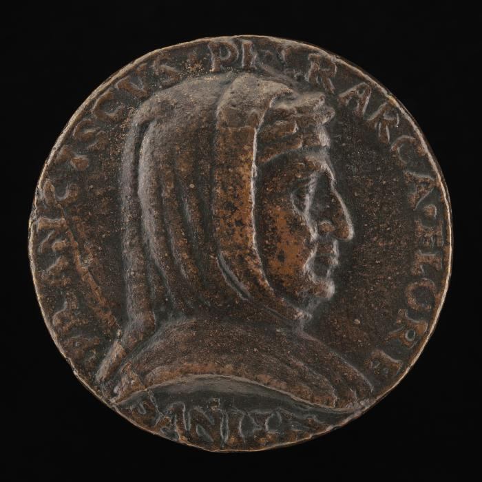 Image for Francesco Petrarca of Arezzo, 1304-1374, Poet [obverse]; Poetry Walking in a Wood [reverse]