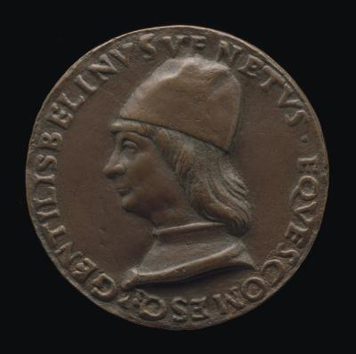 Image for Gentile Bellini, 1429-1507, Venetian Painter [obverse]; Incised Inscription [reverse]