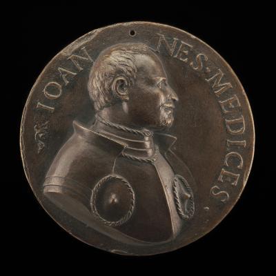 Image for Giovanni de' Medici delle Bande Nere, 1498-1526 [obverse]; Cavalry Charge [reverse]