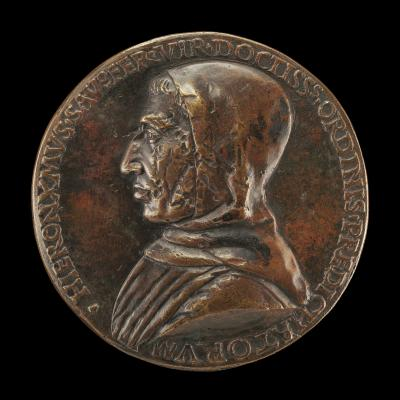Image for Girolamo Savonarola, 1452-1498, Dominican Preacher [obverse]; Italy Threatened by the Hand of God [reverse]