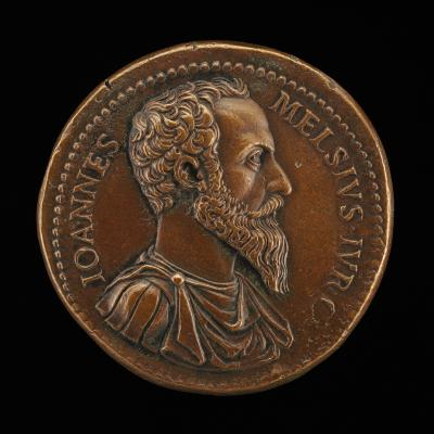 Image for Giovanni Mels, died 1559, Jurist [obverse]; Mels as Genius, Sacrificing [reverse]