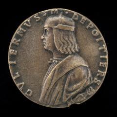 Image for Guillaume de Poitiers, died 1503, Marquis de Cotrone [obverse]; Mercury with a Female Figure [reverse]