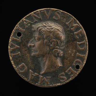 Image for Giuliano II de' Medici, 1478-1516, Duc de Nemours [obverse]; Rome Holding Victory [reverse]