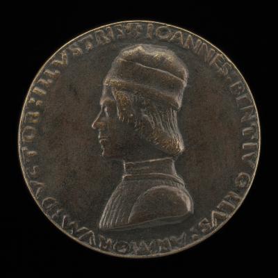 Image for Giovanni II Bentivoglio, 1443-1508, Lord of Bologna 1463-1506 [obverse]; Giovanni II Bentivoglio Mounted in Armor with Captain's Baton [reverse]