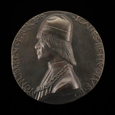 Image for Giovanni II Bentivoglio, 1443-1508, Lord of Bologna 1463-1506 [obverse]; Cupids Holding the Arms of the Bentivogli [reverse]
