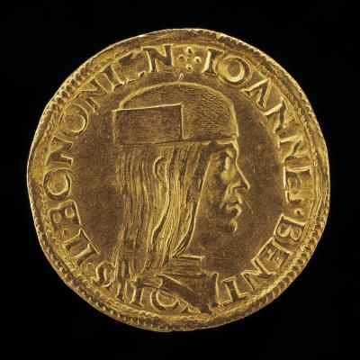 Image for Giovanni II Bentivoglio, 1443-1508, Lord of Bologna 1463-1506 [obverse]; Shield Surmounted by an Eagle [reverse]