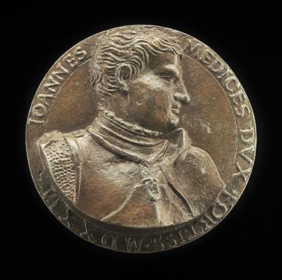 Image for Giovanni de' Medici delle Bande Nere, 1498-1526, Celebrated Condottiere and Father of Cosimo I [obverse]; Winged Thunderbolt [reverse]