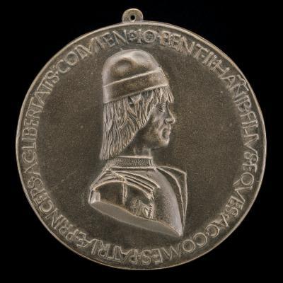 Image for Giovanni II Bentivoglio, 1443-1508, Lord of Bologna 1463-1506 [obverse]; Giovanni II Bentivoglio and Squire [reverse]