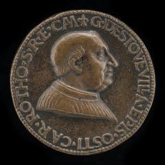 Image for Guillaume d'Estouteville, c. 1412-1483, Cardinal 1439, Archbishop of Rouen 1453, Bishop of Ostia 1461; Shield of Arms of Estouteville [reverse]