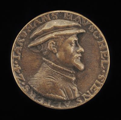 Image for Hans Hauschel, born 1520 [obverse]; Inscription [reverse]