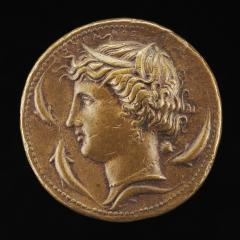 Image for Head of Arethusa [obverse]; Chariot on a Pedestal [reverse]