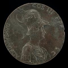 Image for Hadrian [obverse]; Hadrian Riding and Carrying a Standard [reverse]
