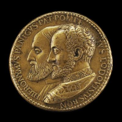 Image for Girolamo Panico, died 1558, and Pompeo Ludovisi, died 1565 [obverse]; Genius Holding a Dolphin and Sacrificing [reverse]