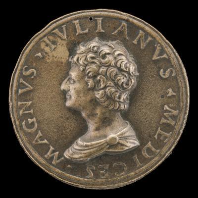 Image for Giuliano II de' Medici, 1479-1516, Duc de Nemours 1515 [obverse]; Virtue and Fortune [reverse]