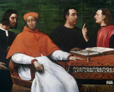 Image for Cardinal Bandinello Sauli, His Secretary, and Two Geographers
