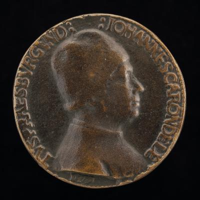 Image for Jean Carondelet, President of the Parliament of Burgundy 1479 [obverse]; Marguerite de Chassey, Wife of Jean Carondelet [reverse]