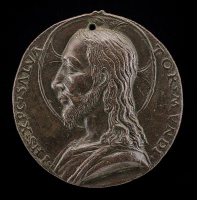 Image for Jesus Christ [obverse]; Inscription in a Wreath [reverse]