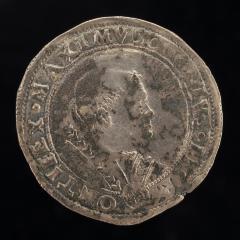 Image for Julius II (Giuliano della Rovere, 1443-1513), Pope 1503 [obverse]; Saint Petronius Enthroned Above Arms of Cardinal Alidosi [reverse]