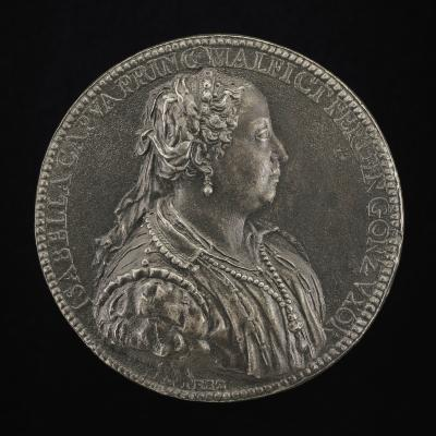 Image for Isabella Capua, Princess of Malfretto, Wife 1529 of Ferrante Gonzaga, died 1559 [obverse]; Isabella at a Burning Alter [reverse]