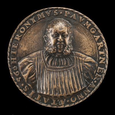 Image for Hieronymus Paumgartner, 1498-1565, Patrician of Nuremberg [obverse]; Arms of Paumgartner [reverse]