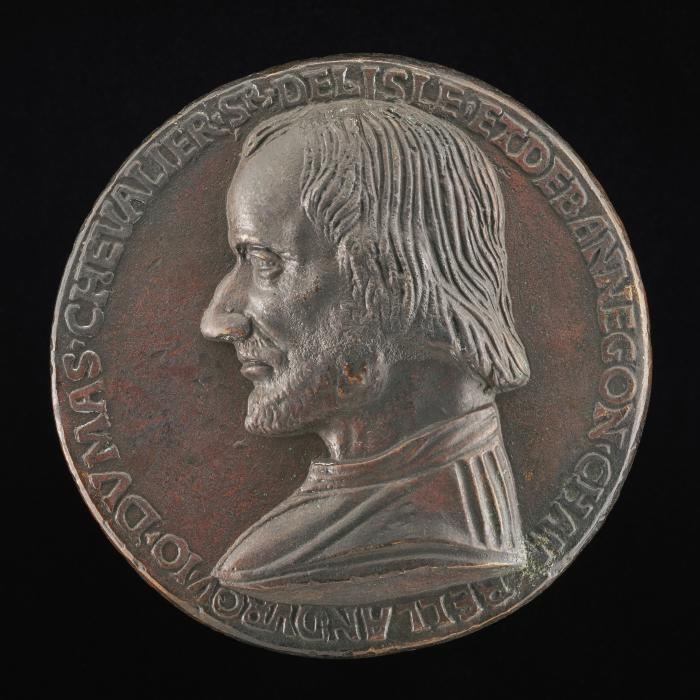 Image for Jean du Mas de l'Isle, died 1495, Councillor of Charles VIII [obverse]; Jean du Mas on a Horse Wearing Chanfron and Bardings [reverse]