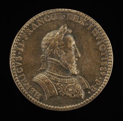 Image for Henri II, 1519-1559, King of France 1547 [obverse]; Fame, Abundance, Victory [reverse]