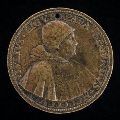 Image for Julius II (Giuliano della Rovere, 1443-1513), Pope 1503 [obverse]; View of Saint Peter's [reverse]