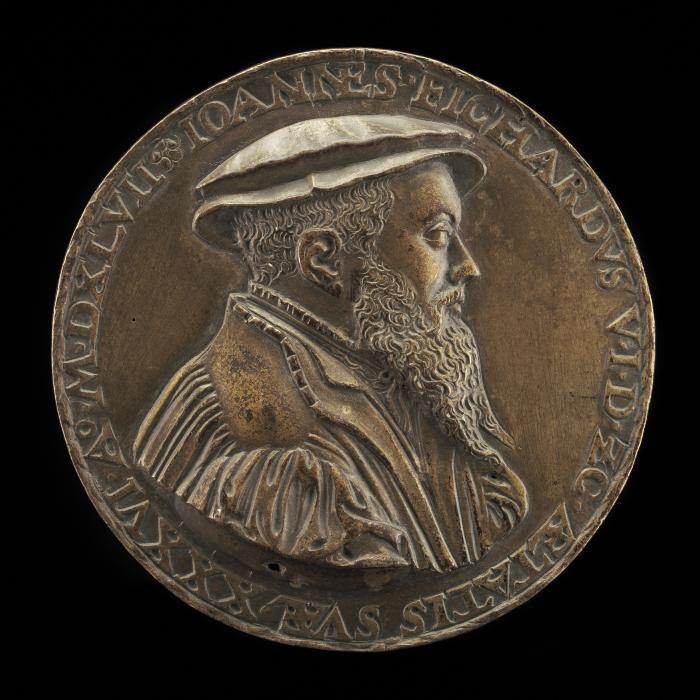 Image for Johann Fichard, 1512-1581, Syndic of Frankfurt am Main [obverse]; Elisabeth Grunenberger, born 1518, Wife of Johann Fichard 1539 [reverse]