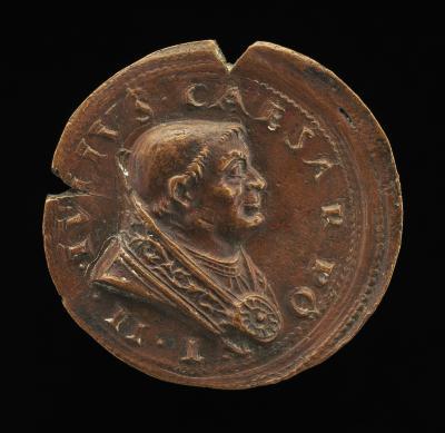 Image for Julius II (Giuliano della Rovere, 1443-1513), Pope 1503 [obverse]; Shield of Rovere [reverse]
