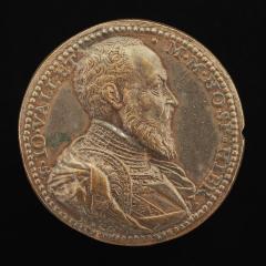 Image for Jean Parisot de la Vallette, 1494-1568, Grand Master of Malta 1557-1568 [obverse]; David and Goliath [reverse]