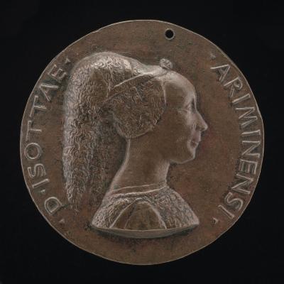 Image for Isotta degli Atti, 1432/1433-1474, Mistress 1446, then Wife after 1453, of Sigismondo Malatesta [obverse]; The Malatesta Elephant [reverse]